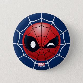 Winking Spider-Man Emoji 6 Cm Round Badge