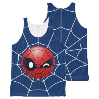 Winking Spider-Man Emoji All-Over Print Singlet