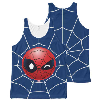 Winking Spider-Man Emoji All-Over Print Tank Top