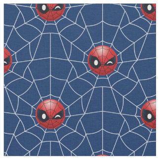 Winking Spider-Man Emoji Fabric