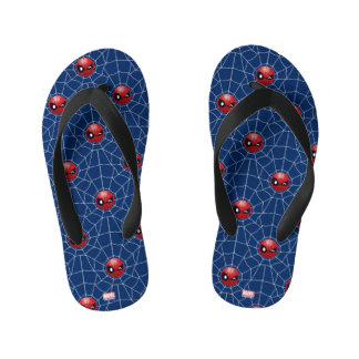 Winking Spider-Man Emoji Kid's Thongs
