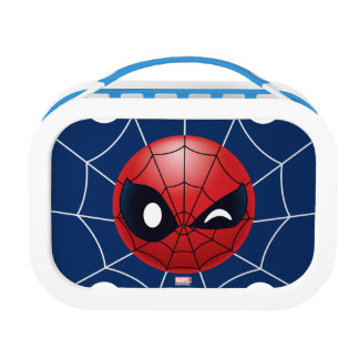 Winking Spider-Man Emoji Lunch Box