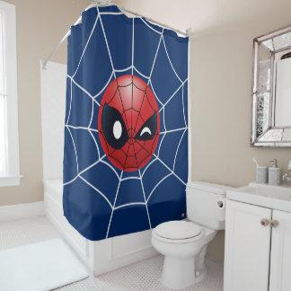 Winking Spider-Man Emoji Shower Curtain