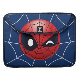 Winking Spider-Man Emoji Sleeve For MacBook Pro
