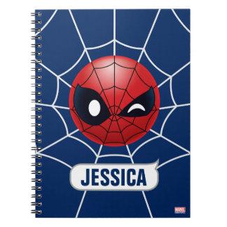 Winking Spider-Man Emoji Spiral Notebook