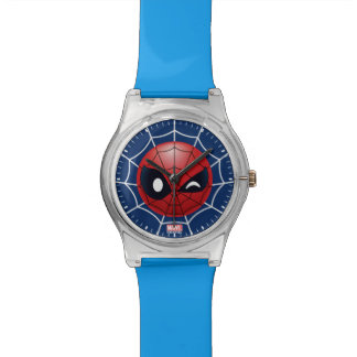 Winking Spider-Man Emoji Watch