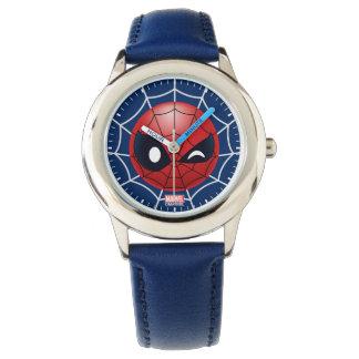 Winking Spider-Man Emoji Watch
