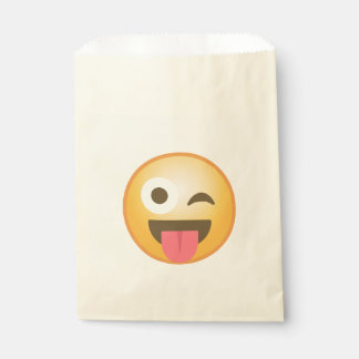 Winking Tongue Emoji Favour Bags