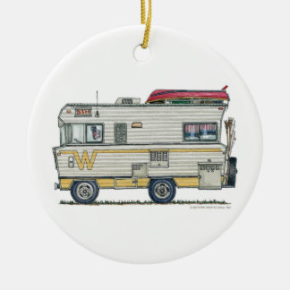 Winnebago Camper RV Apparel Ceramic Ornament