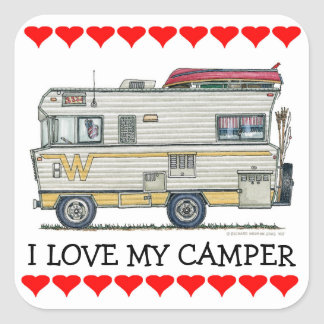 Winnebago Camper RV Apparel Square Sticker