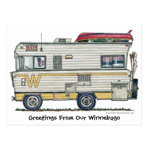 Winnebago Camper RV Post Cards