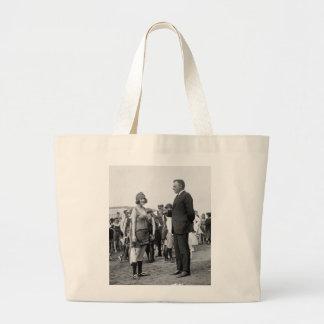 Winner at the Beach, 1920s Jumbo Tote Bag