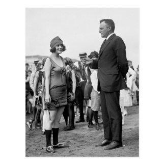 Winner at the Beach, 1920s Postcard