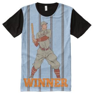 WINNER Baseball Player Retro / Vintage All-Over Print T-Shirt