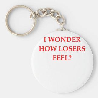 winner basic round button key ring
