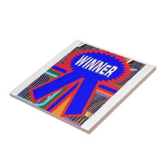 WINNER Blue Ribbon Small Square Tile