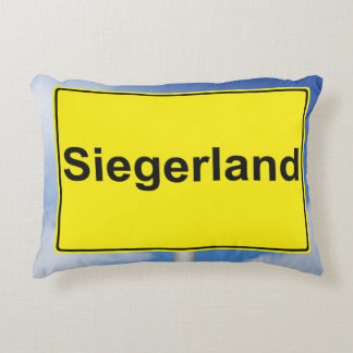Winner country sign with sky background decorative cushion