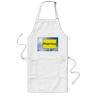 Winner country sign with sky background long apron