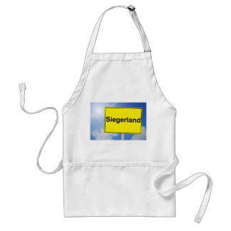 Winner country sign with sky background standard apron