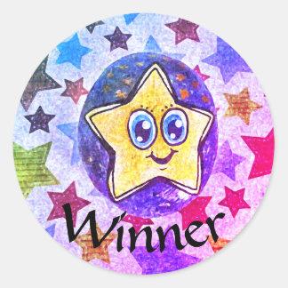 Winner, fine art star drawing sticker