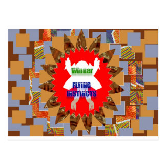 WINNER Flying Instincts Excel Congratulations Postcard