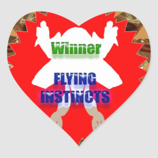 WINNER Flying Instincts : Excel Congratulations Heart Stickers