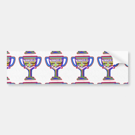 WINNER: Hand crafted Trophy: Encourage Excellence Bumper Stickers