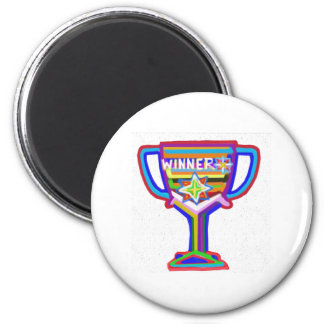 WINNER: Hand crafted Trophy: Encourage Excellence 6 Cm Round Magnet
