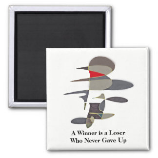 Winner - Never Give Up - Abstract Pencil Sketch Magnet