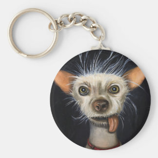 Winner of the Ugly Dog Contest 2011 Basic Round Button Key Ring