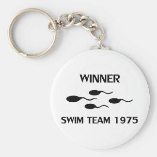 winner swim team 1975 icon key chains