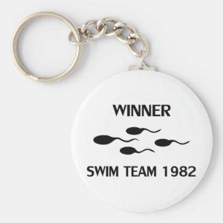 winner swim team 1982 icon key chains