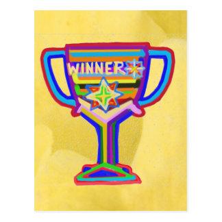 Winner Trophy:  Acrylic Art Postcard