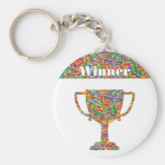 Winner Waves Winning Image Basic Round Button Key Ring