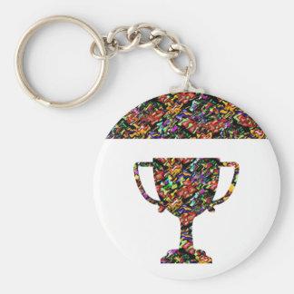 Winner Waves Winning Image Basic Round Button Key Ring