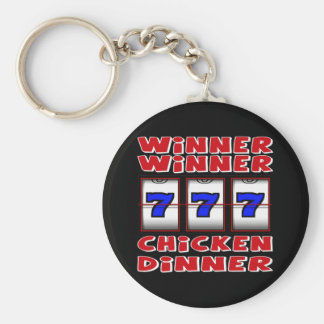 WINNER WINNER CHICKEN DINNER BASIC ROUND BUTTON KEY RING