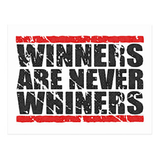 Winners are never Whiners | Retro Look Postcard