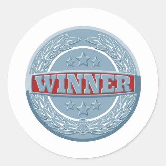 Winners award badge round sticker