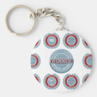Winners award badges key chains