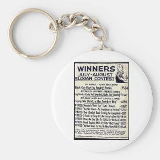 Winners July - August Slogan Contest Keychains