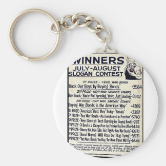 Winners July - August Slogan Contest Keychain