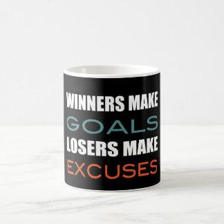 Winners Make Goals, Loser Make Excuses Basic White Mug