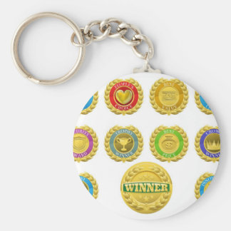 Winners medals keychains