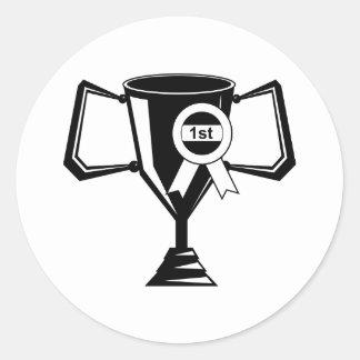 Winners Trophy Round Sticker
