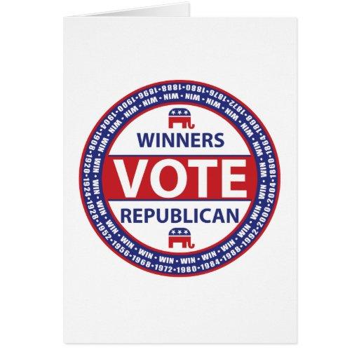 Winners Vote Republican Greeting Card