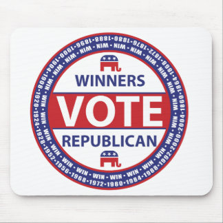 Winners Vote Republican Mouse Pad