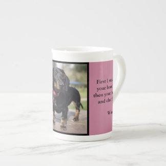 Winnie the daschund tea cup