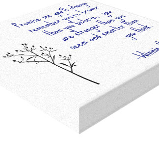 Winnie the Pooh Quote Canvas Art Inspirational Art