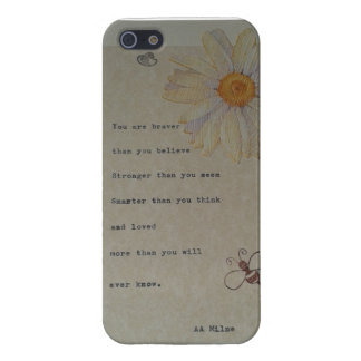 Winnie the Pooh Quote, original design iPhone 5/5S Cases