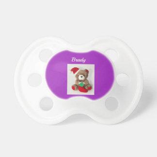 Winnie the Pooh teddy Christmas bear pacifier